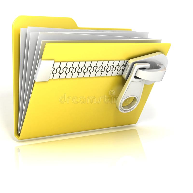 Zip, archive, compressed folder icon vector illustration