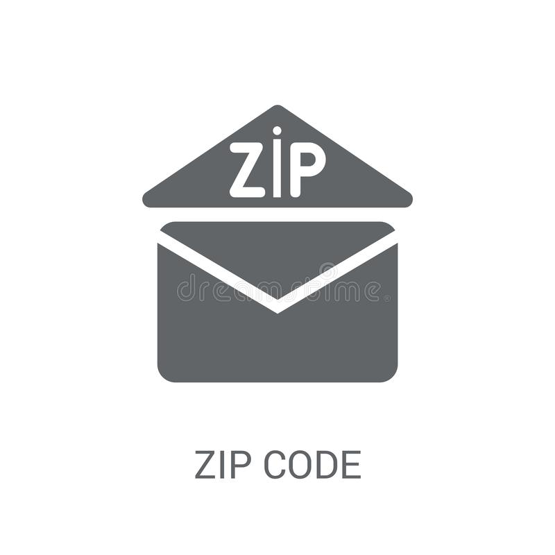 Zip code icon. Trendy Zip code logo concept on white background. From Delivery and logistics collection. Suitable for use on web apps, mobile apps and print royalty free illustration