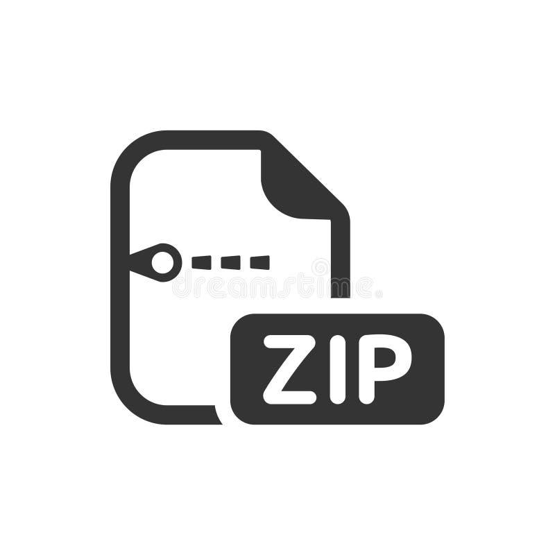 Zip Datei Ikone stock abbildung