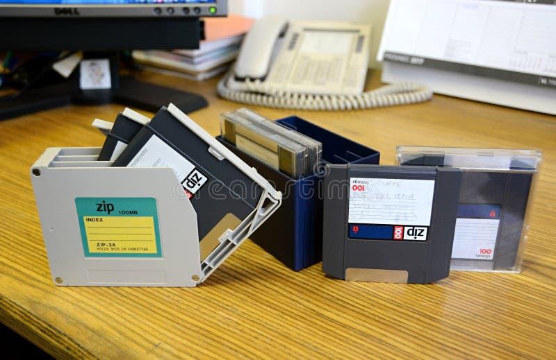 Zip floscio - 100 megabyte fotografia stock libera da diritti
