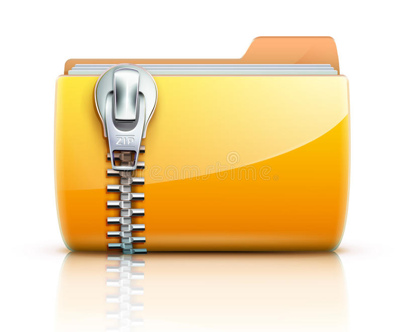 Zip Folder Icon Royalty Free Stock Photography