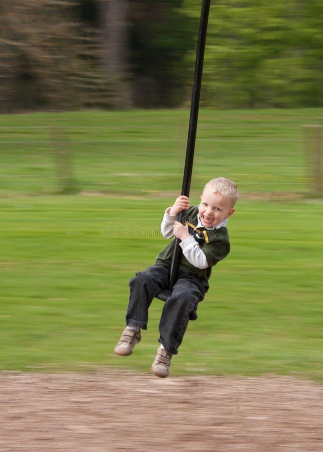 Zip-line Child stock photography