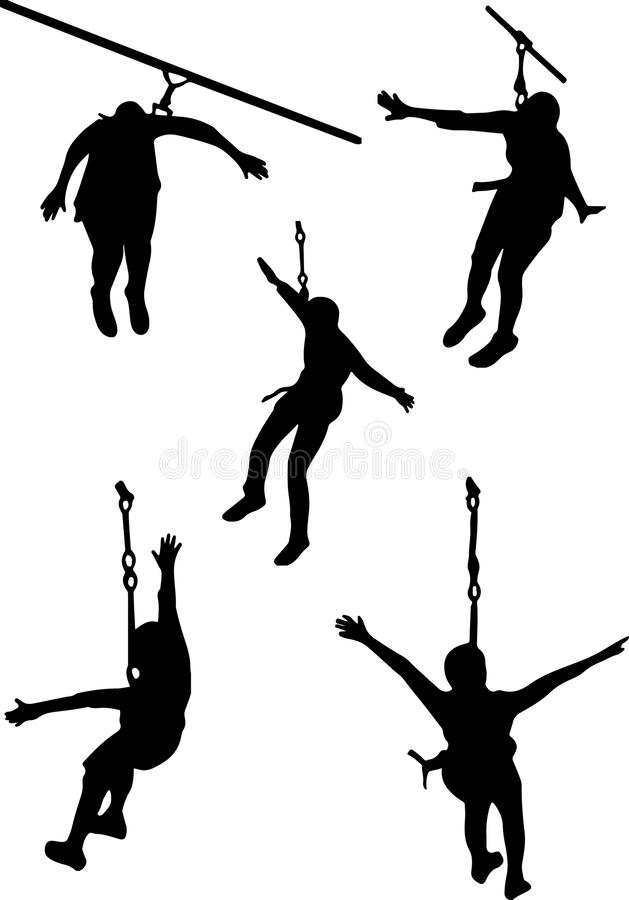 zip line silhouette clip art stock vector illustration of hand rh dreamstime com