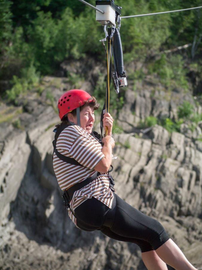 Download Zip line terror stock photo. Image of terror, gorge, woman - 40680278