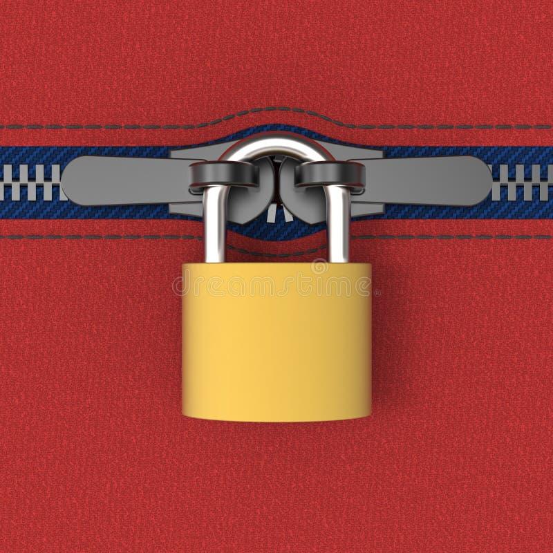 Zip locked by padlock