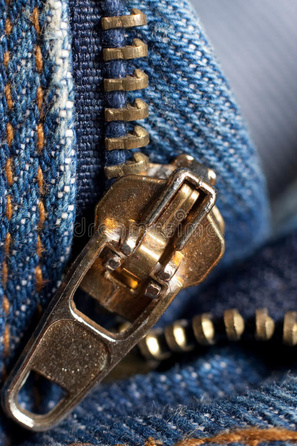 Free Zip On Jeans Stock Image - 16225201