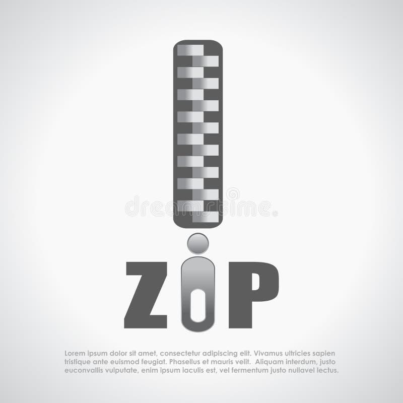 Download Zip symbol stock vector. Image of symbol, poster, grey - 33001904