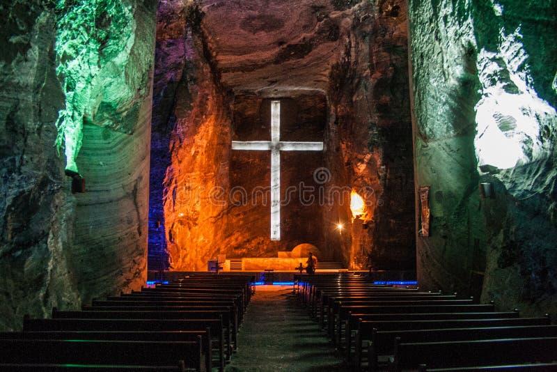 Zipaquira salt cathedral royalty free stock image
