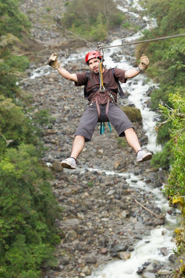 Ziplinie Abenteuer lizenzfreies stockfoto