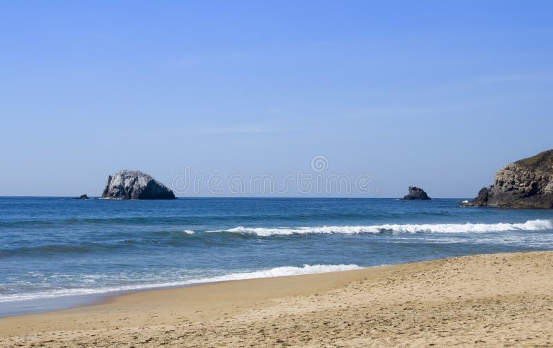 Zipolite beach, nudist beach, San Pedro Pochutla, Oaxaca Mexico. Zipolite beach, nudist beach, San Pedro Pochutla stock photography