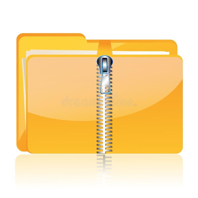 Zipped Folder Royalty Free Stock Photo