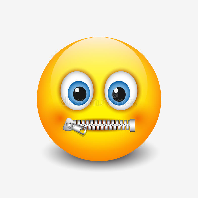 Free Zipped Mouth Smiley, Emoticon, Emoji - Vector Illustration Stock Photos - 96762813