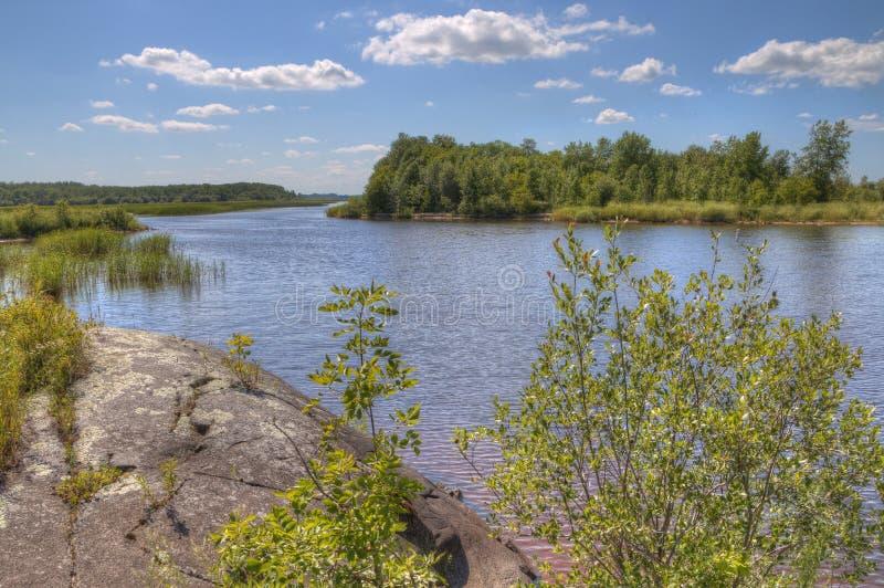 Zippel海湾伍兹湖的,明尼苏达国家公园 免版税库存照片