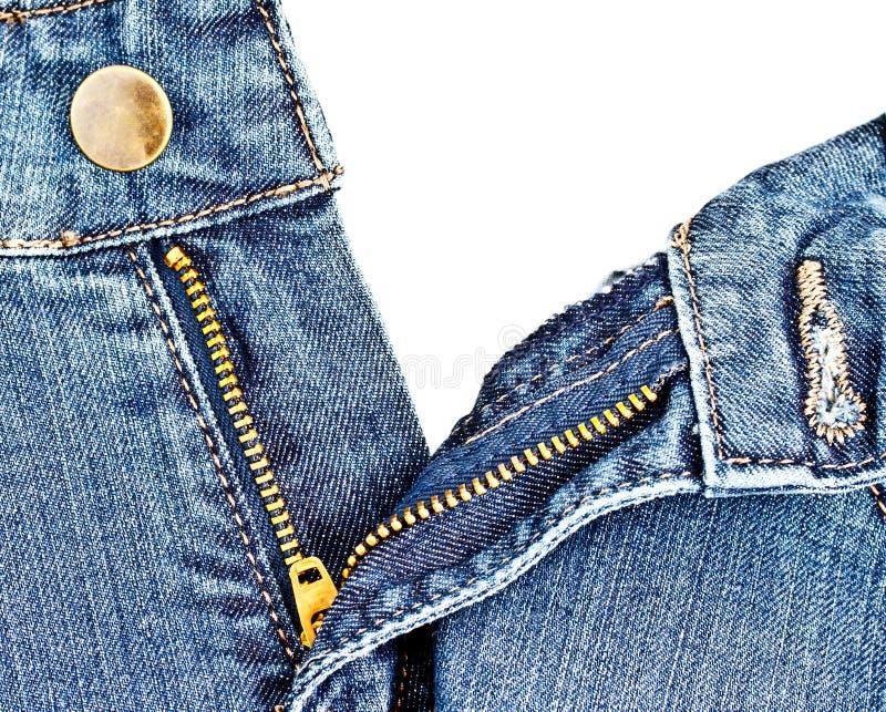 Zipper 3 De Jean Fotografia de Stock