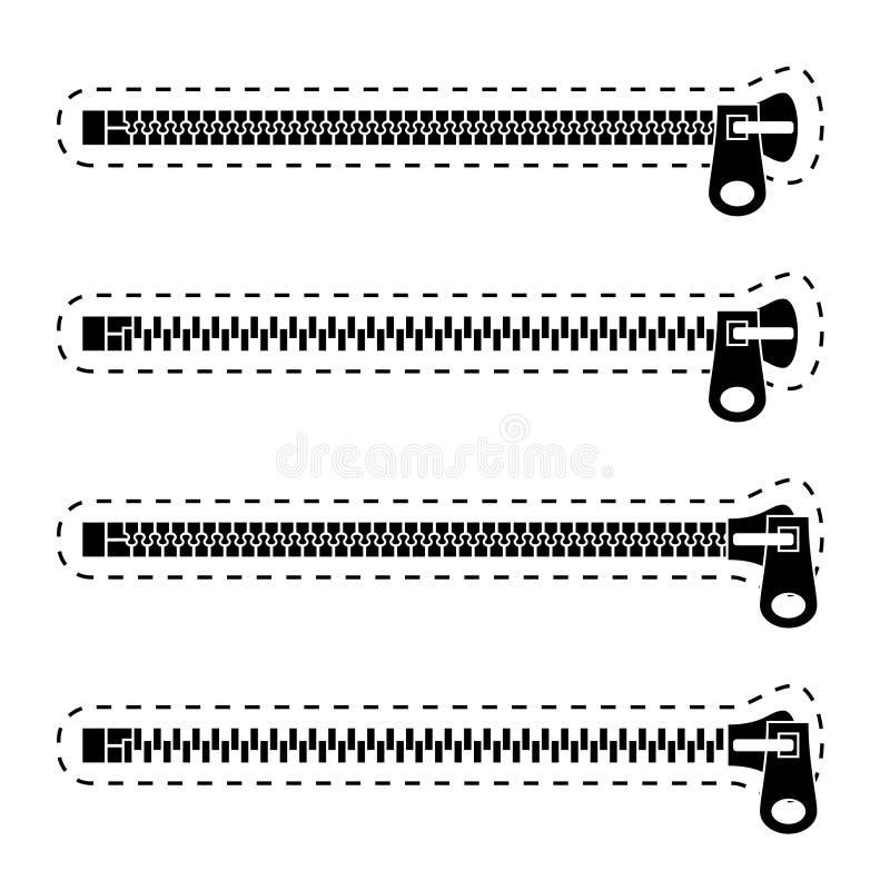 Download Zipper Black Symbols Stock Photo - Image: 23413170