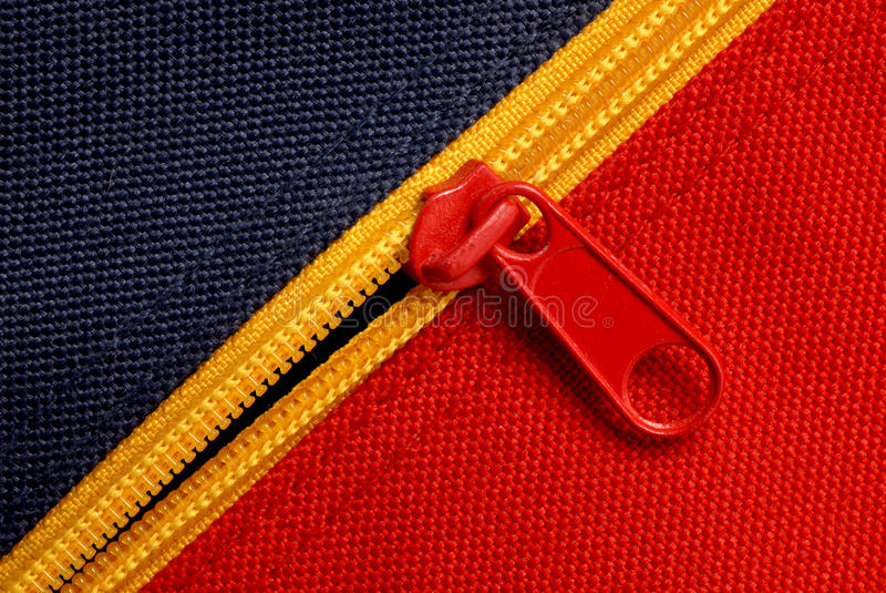 Download Zipper on canvas stock image. Image of parting, sewing - 12372401