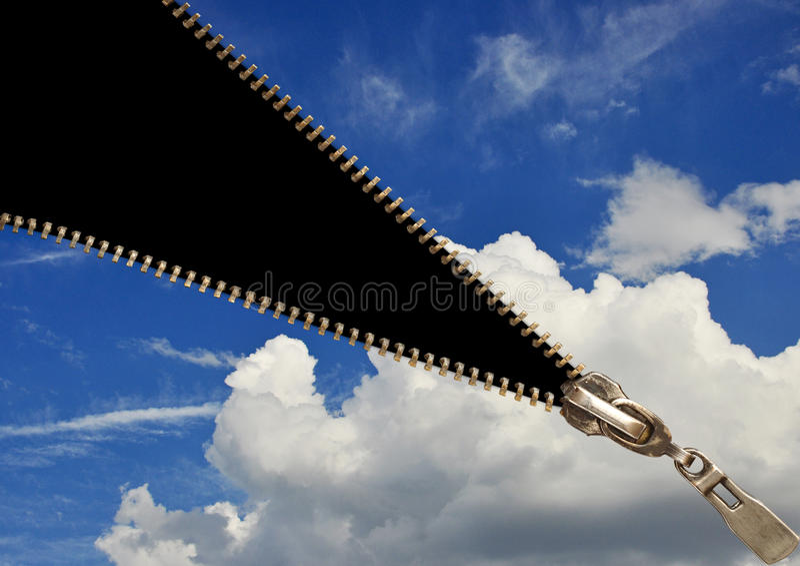 Zipper concept royalty free stock photo