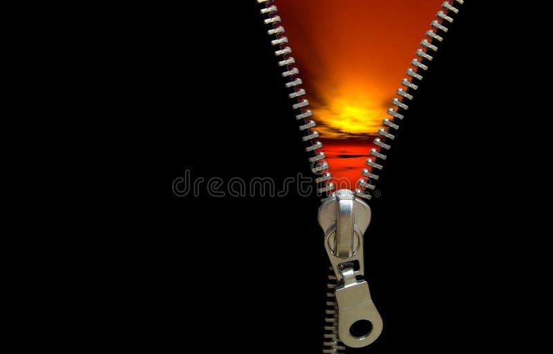 Zipper concept stock image