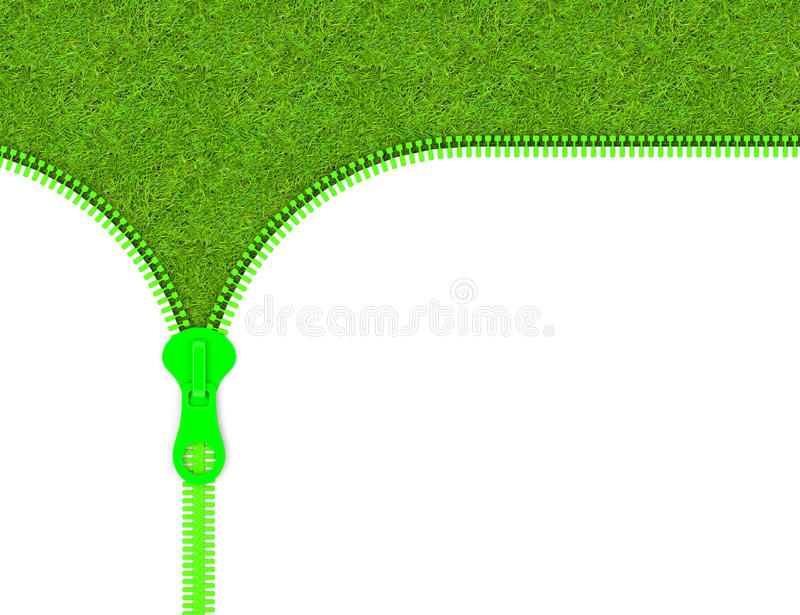 Download The zipper stock illustration. Image of unzip, grass - 39706668