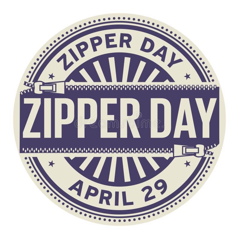 Zipper Day stamp stock illustration