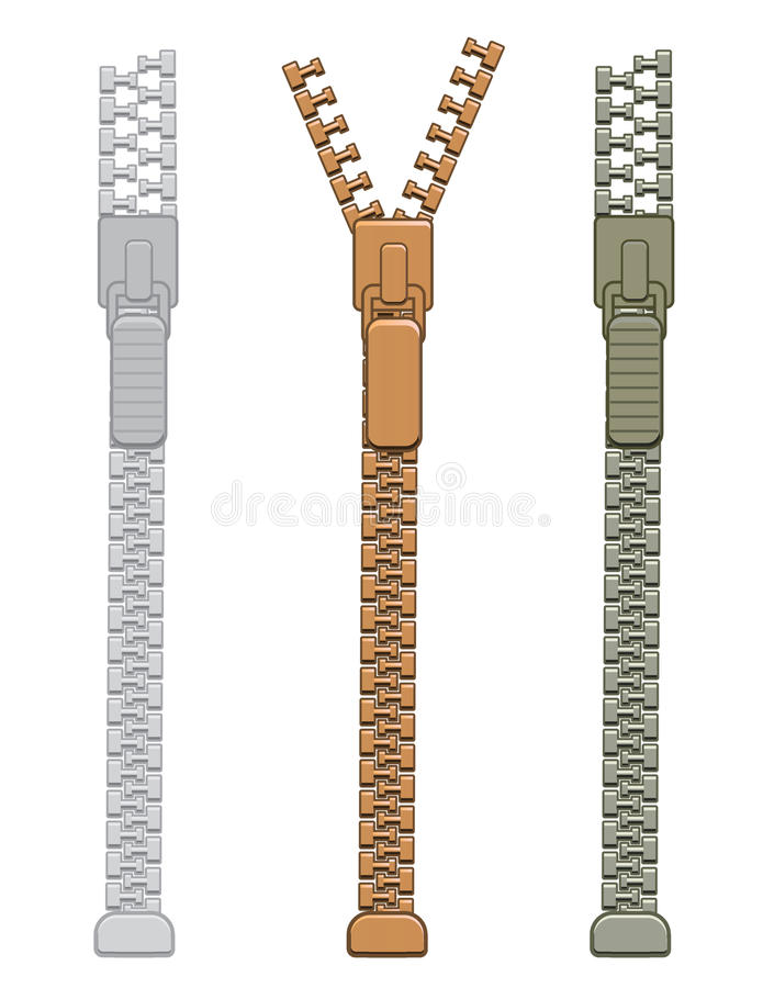 Download Zipper stock vector. Image of isolated, close, blank - 32501577