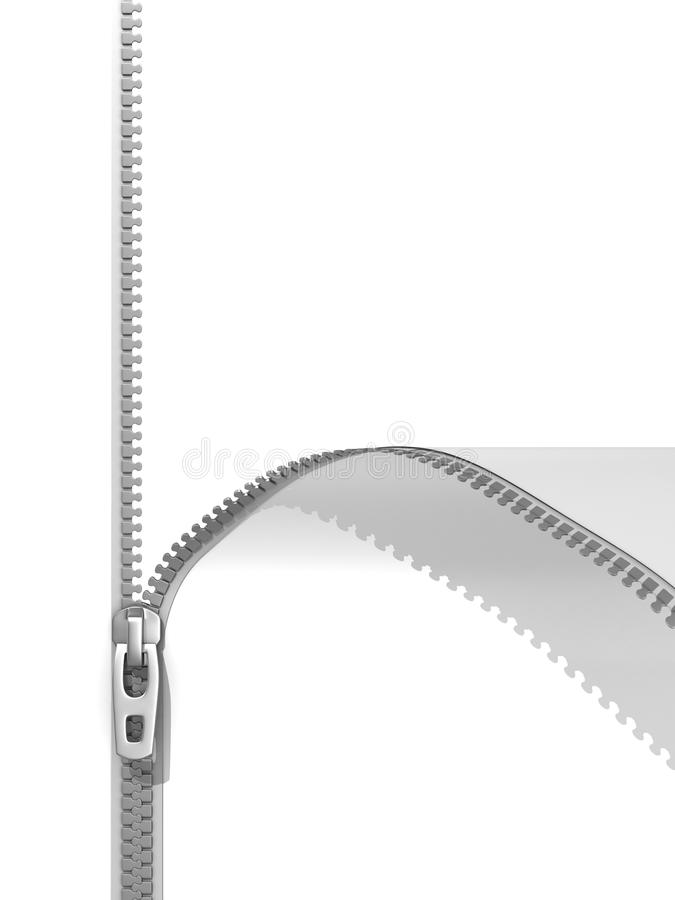 Zipper isolated on white royalty free illustration