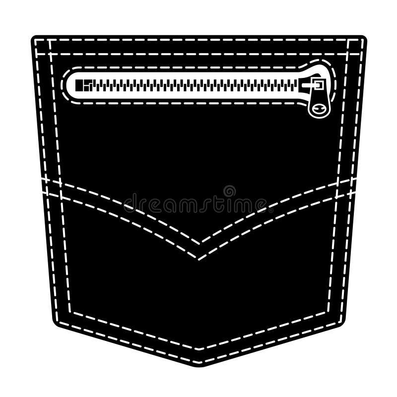 Download Zipper Jeans Pocket Black Symbol Stock Vector - Image: 23413172