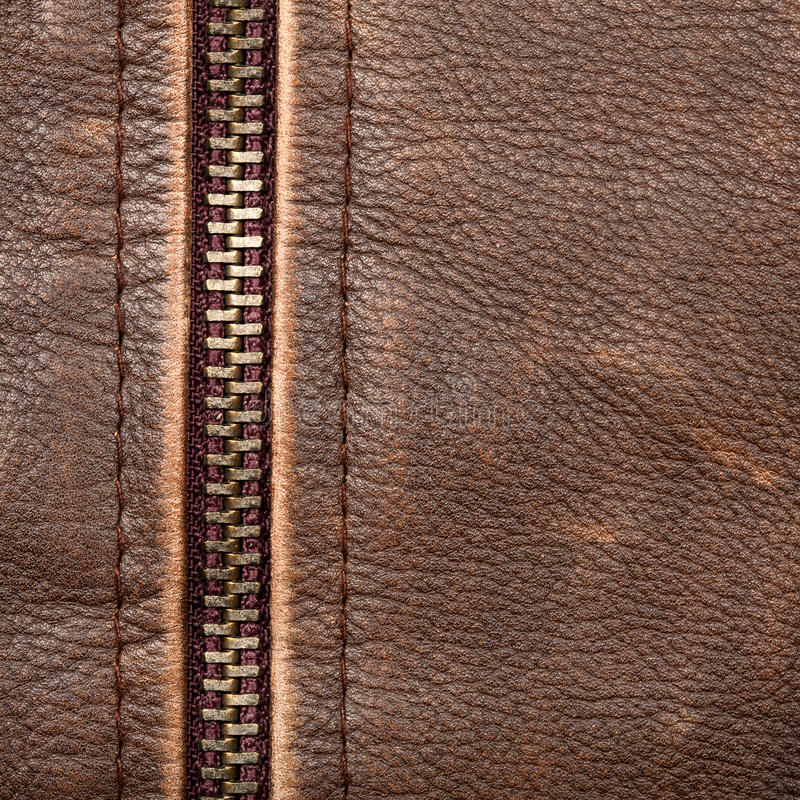 Download Zipper and leather stock image. Image of macro, cloth - 22936107