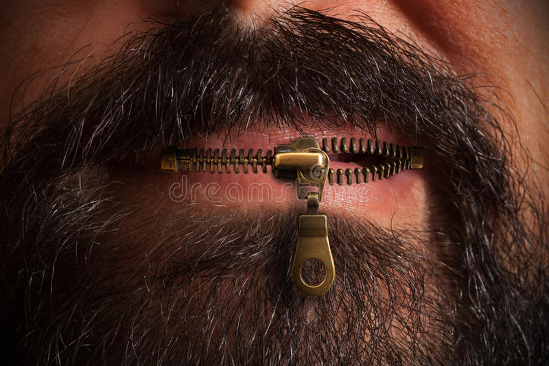 zipper mouth stock image image of ideas confidential 63336449