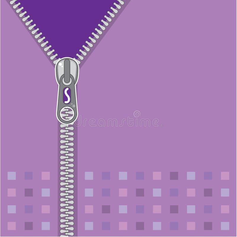 Zipper purple vector illustration