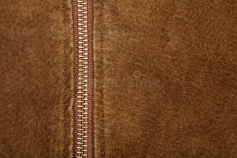 Download Zipper and suede stock image. Image of clothing, natural - 23248579