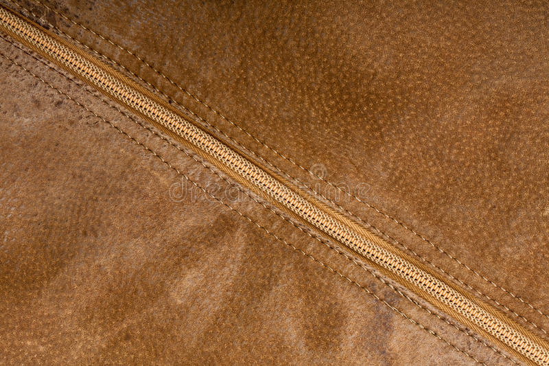 Zipper and suede