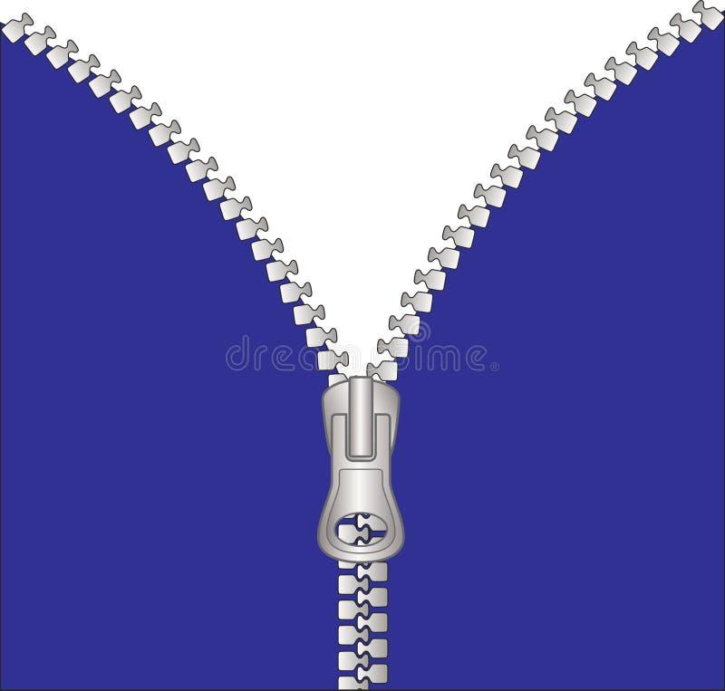 Zipper Unzipped Imagem de Stock