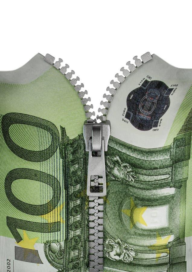 Download Zippered hundred euro note stock illustration. Illustration of bank - 29558224