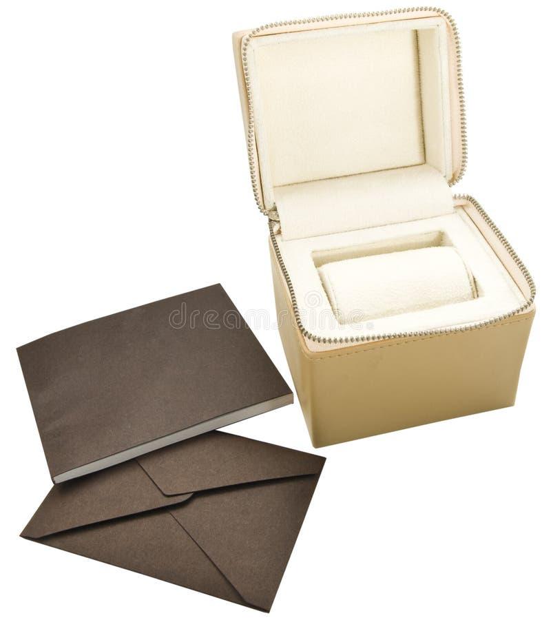 Zippered Kasten und Umschlag stockfoto