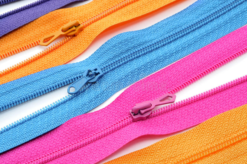 zippers royaltyfri fotografi