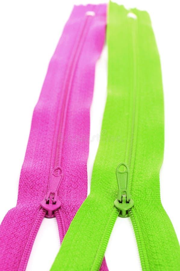 Zippers royaltyfria bilder