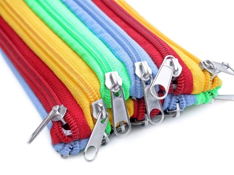 Zippers do arco-íris foto de stock royalty free