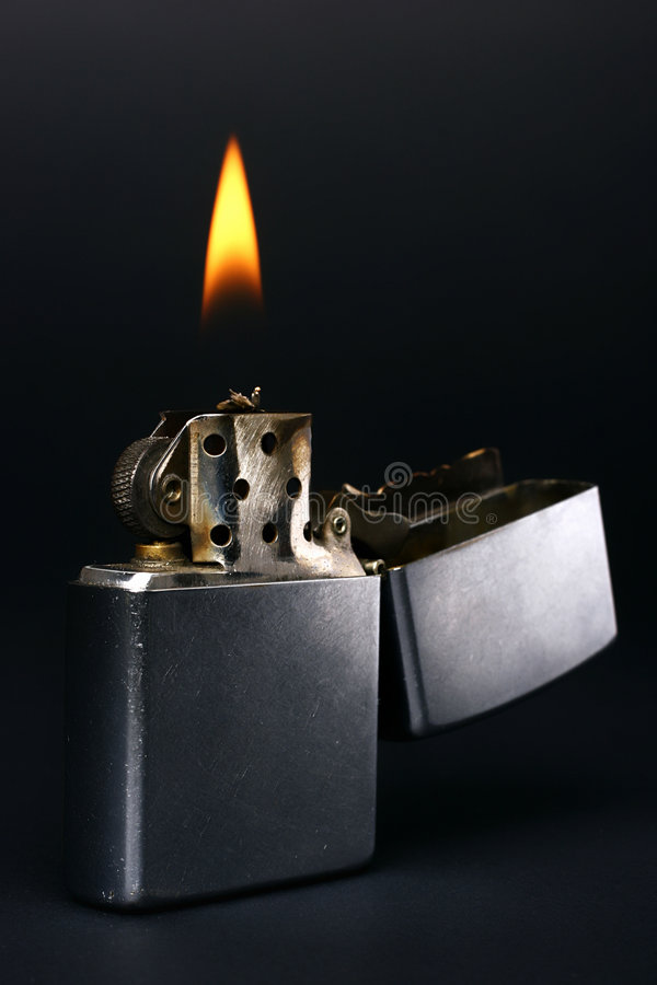 Zippo lighter stock image. Image of zippo, isolate, close ...