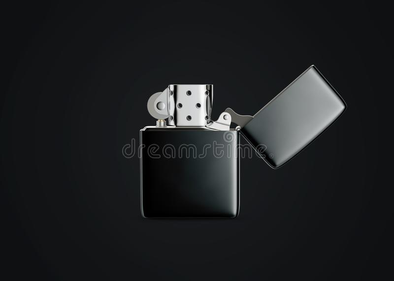 Zippo style metal gasoline lighter. Surface closeup for your design. Windproof lighter isolated on white a white background. royalty free stock images