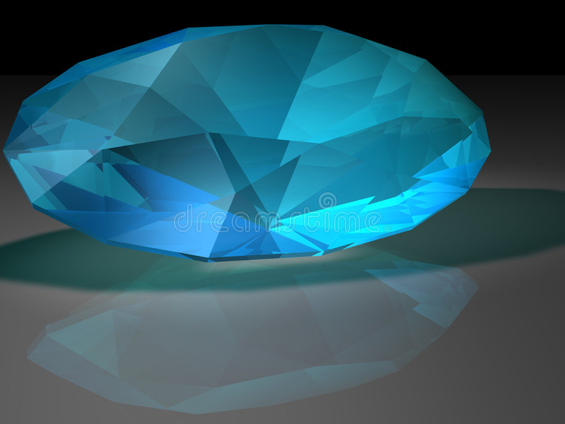 Zircon gemstone. Birthstone for December- Blue Zircon stock images