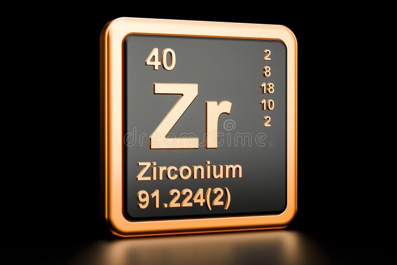 Zirconium Zr Chemical Element 3d Rendering Stock Illustration