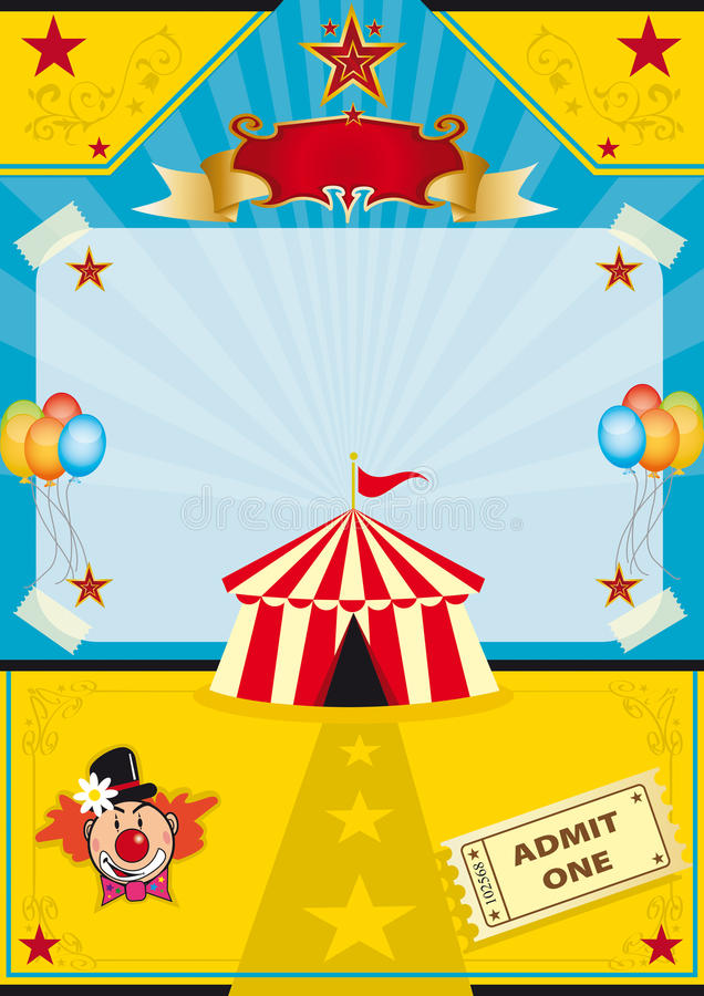 Zirkus auf dem Strand lizenzfreie abbildung