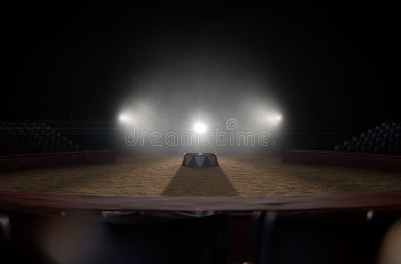 Zirkus Ring And Podium lizenzfreies stockbild