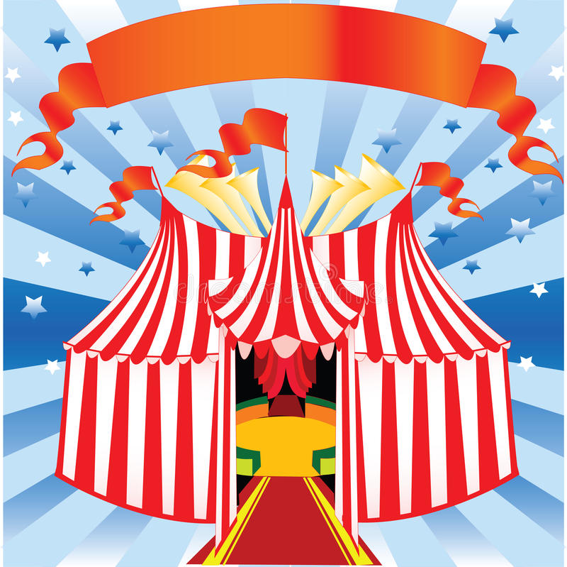 Zirkus und Pierrot lizenzfreie abbildung
