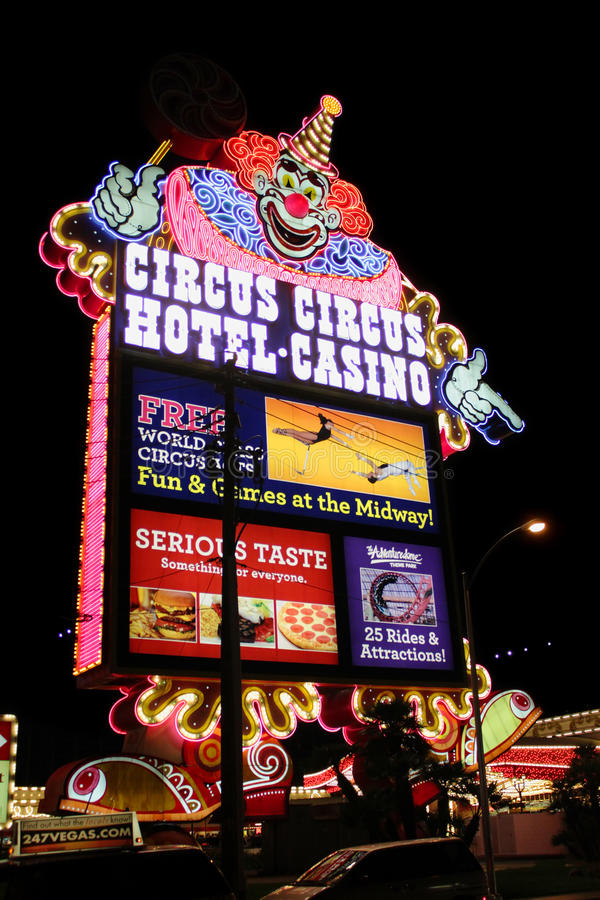 Zirkus-Zirkus Las Vegas lizenzfreies stockbild