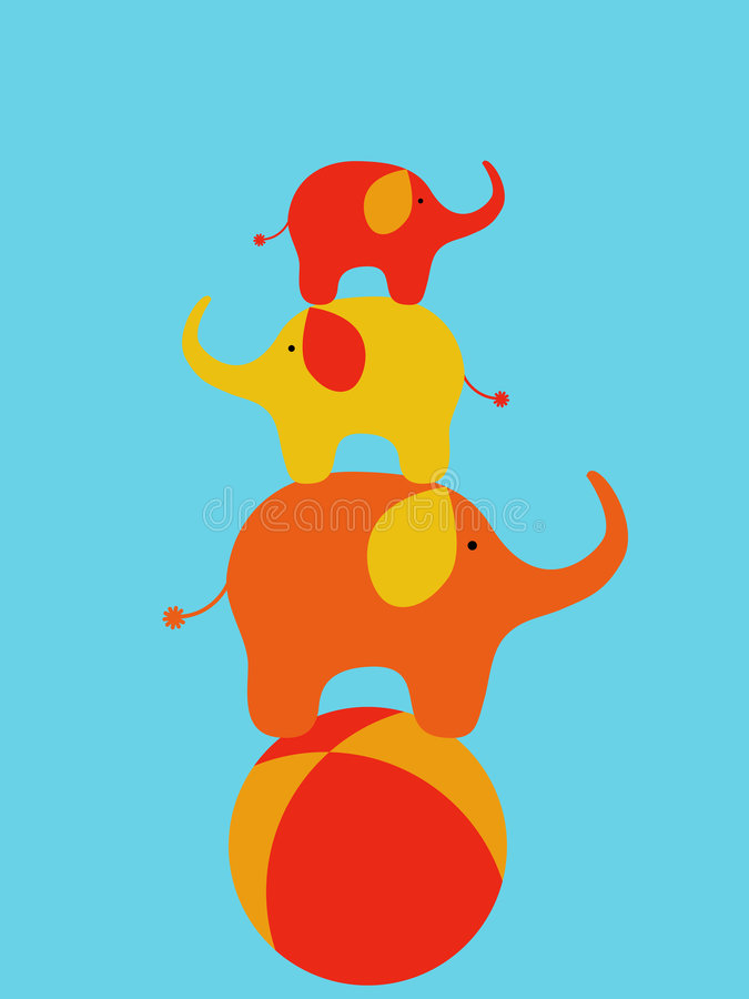 Zirkuselefanten vektor abbildung