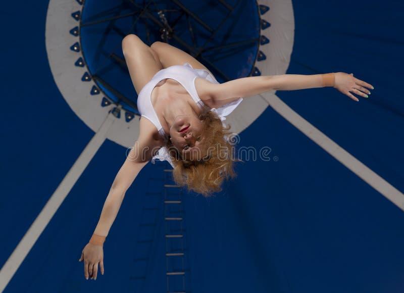 Zirkusluftturner lizenzfreies stockfoto