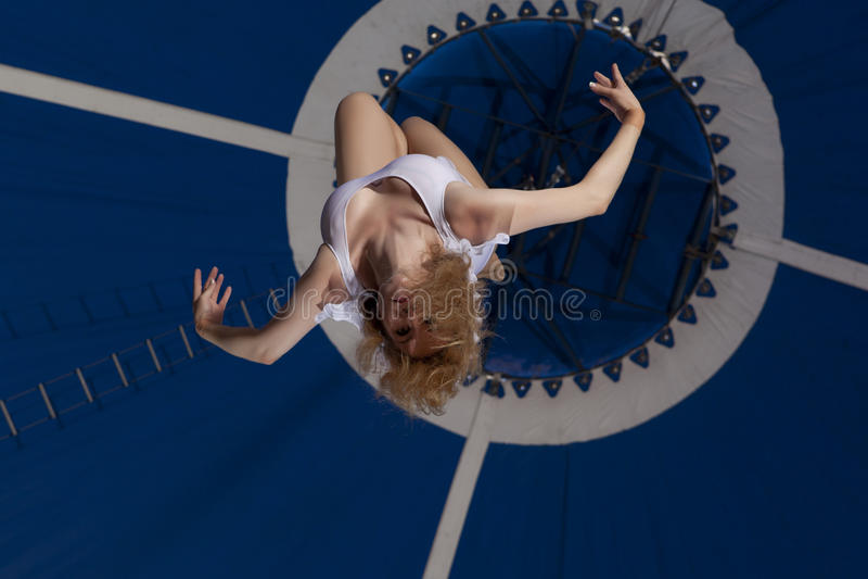 Zirkusluftturner stockbild
