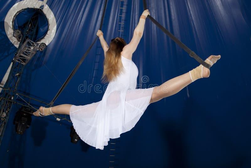 Zirkusluftturner stockfoto